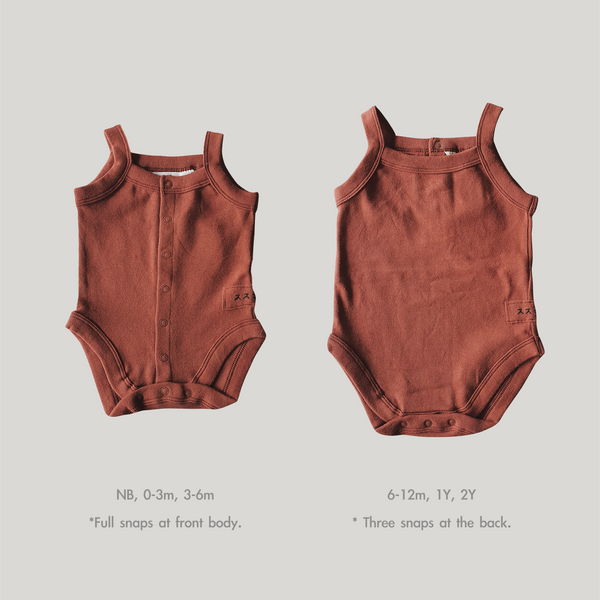 Susukoshi Tank Top Suit Burnt Orange