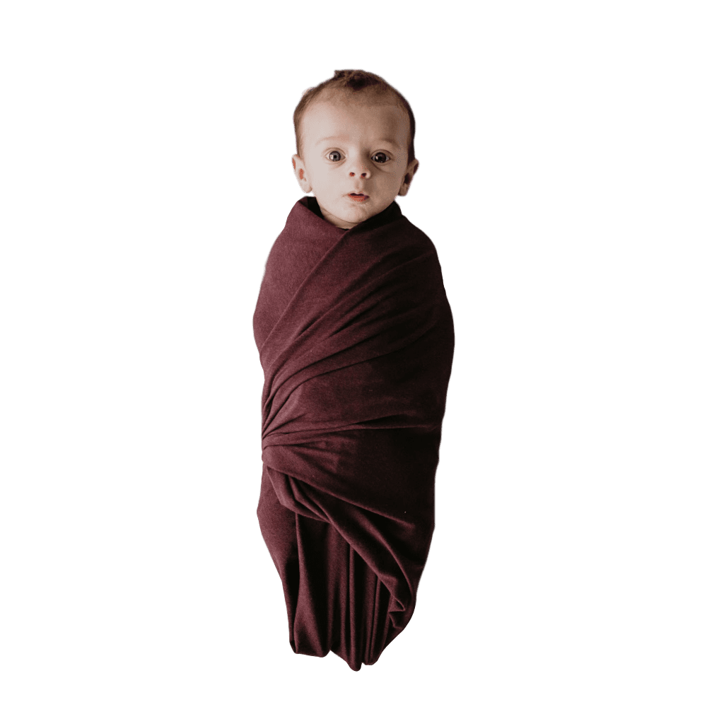Swaddle Oversized Dark purple - The Ophelia - Beluga Baby - Made in North America