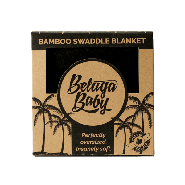 Swaddle Black - Sawyer - Beluga Baby - Made in North America