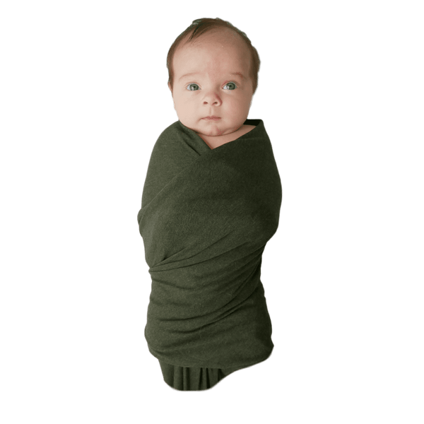 Swaddle Oversized Green - The Jessica - Beluga Baby - Made in North America