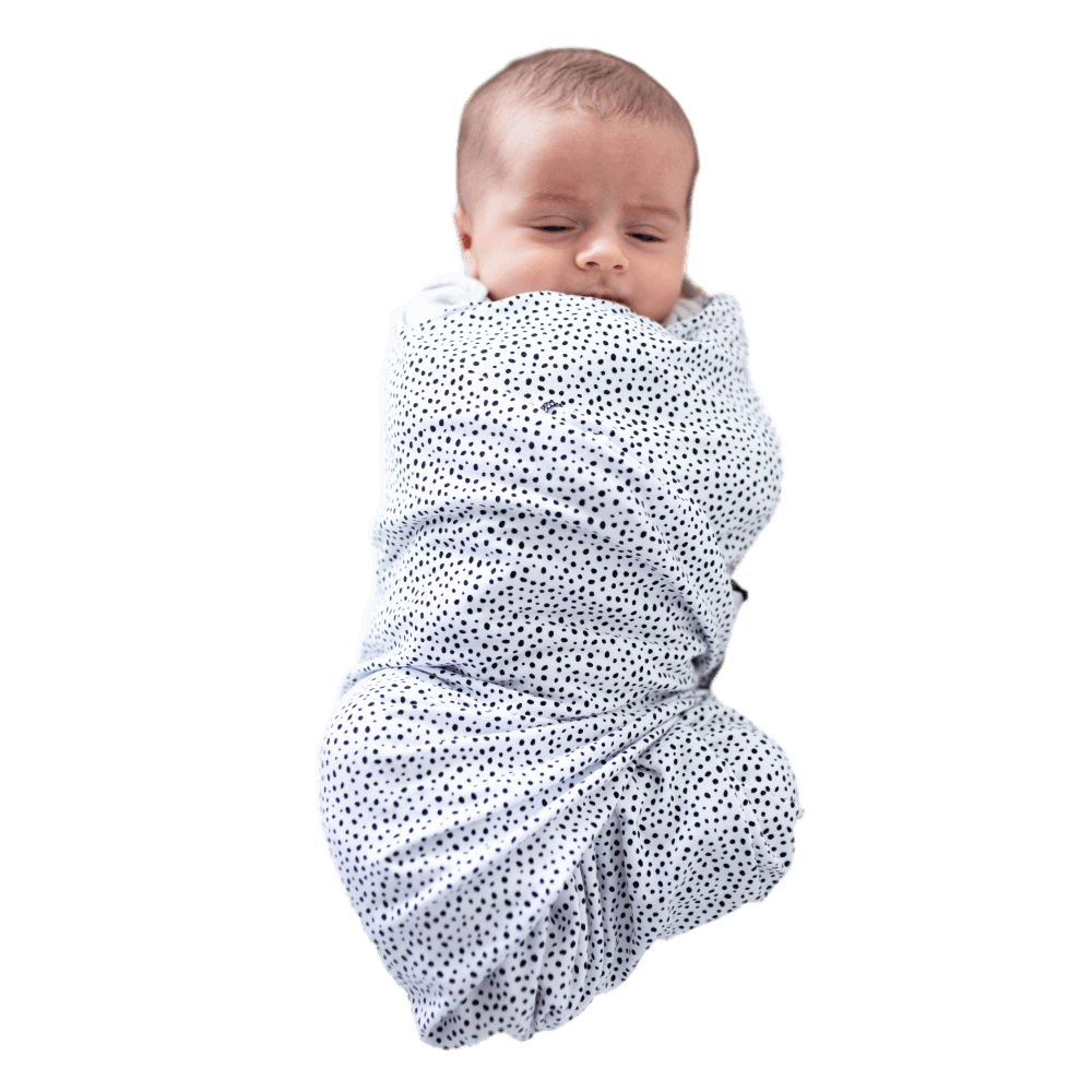 Swaddle Oversized Black & White Dots - Portland Pebble - Beluga Baby - Made in North America