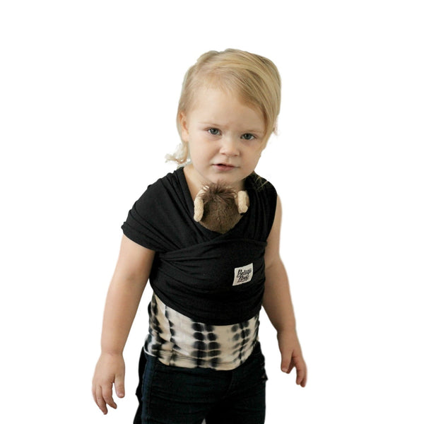Children's Doll Carrier Black - Sawyer - Beluga Baby - Made in North America