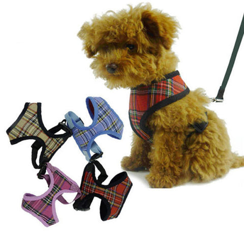1x Adjustable Soft Mesh Fabric Padded Dog Harness - TLC Gift Store - tlcgiftstore.com