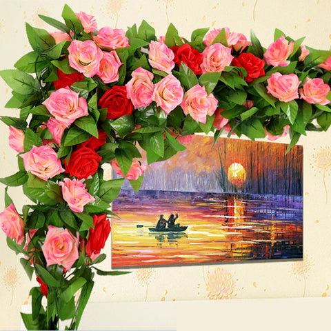 250cm Imitation Silk Roses Ivy Vine - TLC Gift Store - tlcgiftstore.com