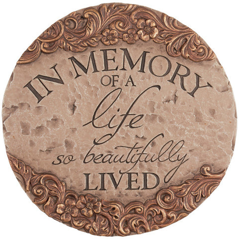 In Memory Of Decorative Stepping Stone - TLC Gift Store - tlcgiftstore.com