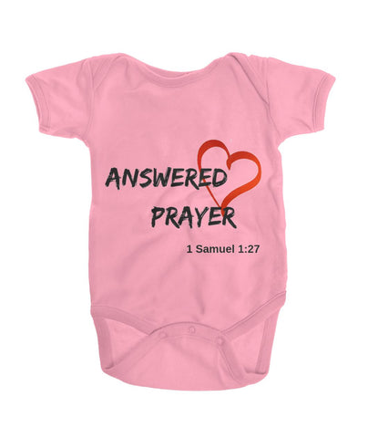 Pink Answered Prayer Onsies Onesies - TLC Gift Store - tlcgiftstore.com