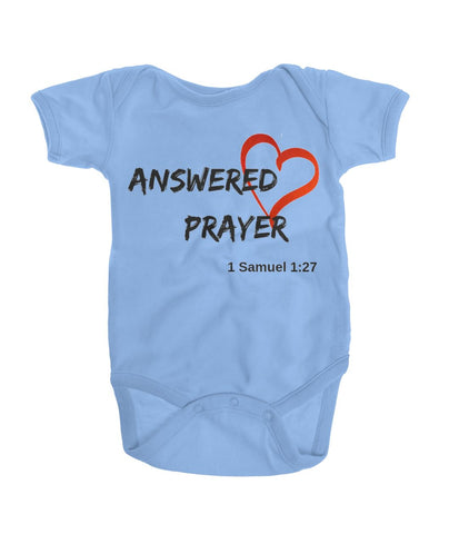 Newborn Baby Blue Answered Prayer Onesies - TLC Gift Store - tlcgiftstore.com