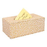Gold Flower Tissue Box