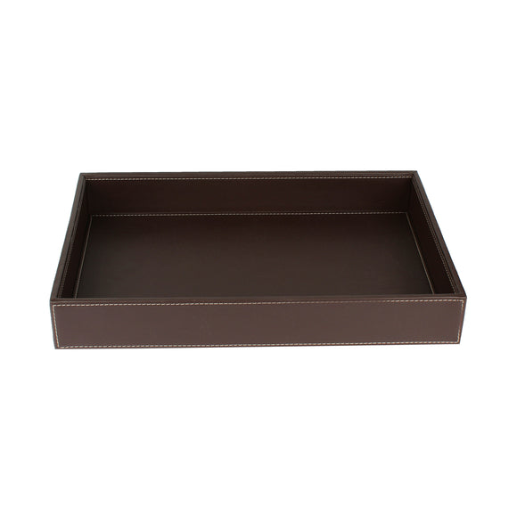 Brown Nappa Leather Tray