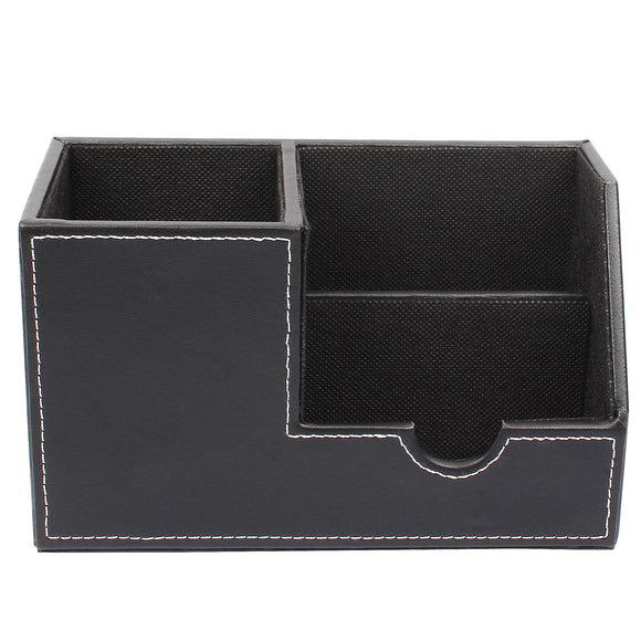 Pen Holder / Black Desk Organizer