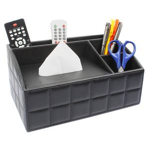 Black Check Desk Organizer