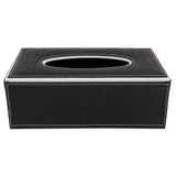 Black Tissue Box with silver edges