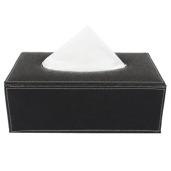 Black Tissue Box