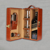 Tan Leather Bar Set