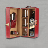 Cherry Leather Bar Set