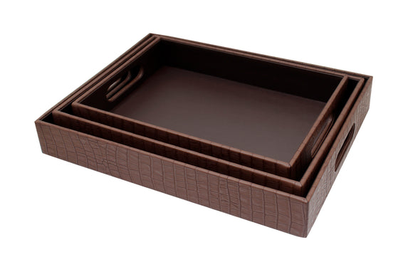 Leather Tray with handle