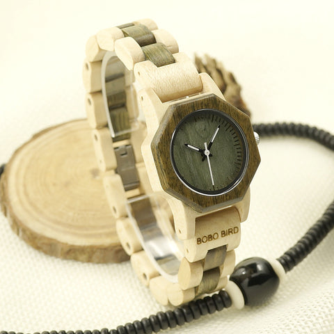 Vintage Wooden Women Watch