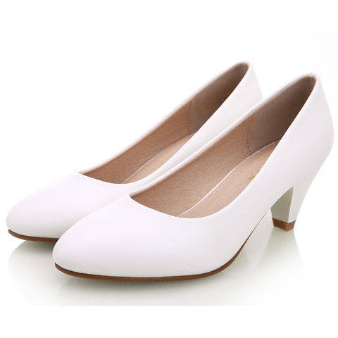 Black&White Pumps Shoes for Office Ladies