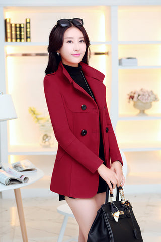 Women Trench Overcoat