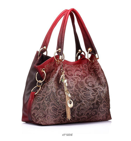 Floral Print Shoulder Women Handbag