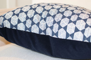 "Six Sided Dot, Blue 22"" Square Pillow"