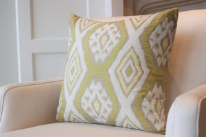 Yellow Ikat Square
