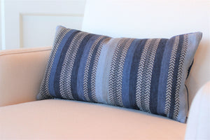 Blue Stripe with Velvet Back Rectangle