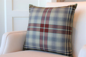 "Red Plaid 20"" Square"