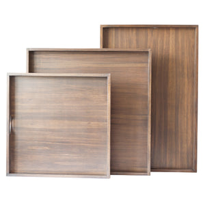 Wood Trays, Walnut Finish