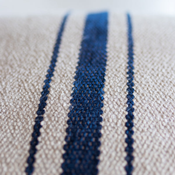 Blue on Tan Stripe Rectangle