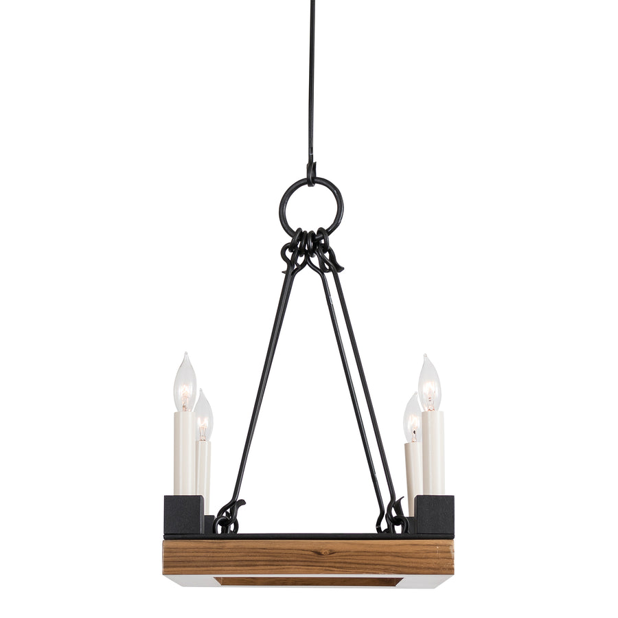 Beckett Square Chandelier, Small & Semi-Flush Mount