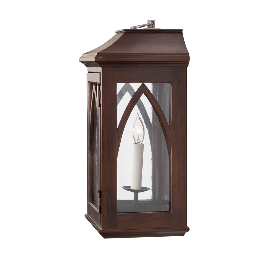 Edinburgh Low Profile Lantern Sconce, Large (Stained)