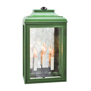 Lutyens Low Profile Lantern Sconce with Mirror, Estate, 3-Light