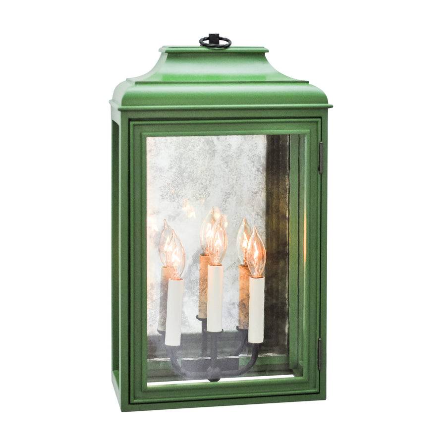 Lutyens Low Profile Lantern Sconce with Mirror, Estate, 3-Light (Stained)