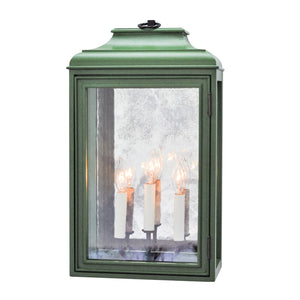 Lutyens Low Profile Lantern Sconce with Mirror, Estate, 3-Light (Painted)