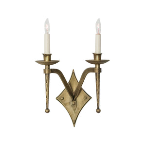 Charing Diamond Double Arm Sconce