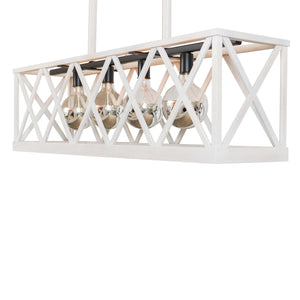 Napa Gate Chandelier, Medium (Painted)