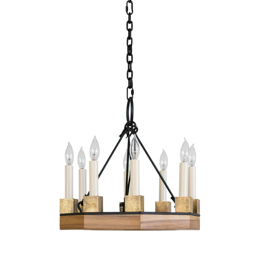 Beckett Octagon Chandelier, Medium, 8-Light
