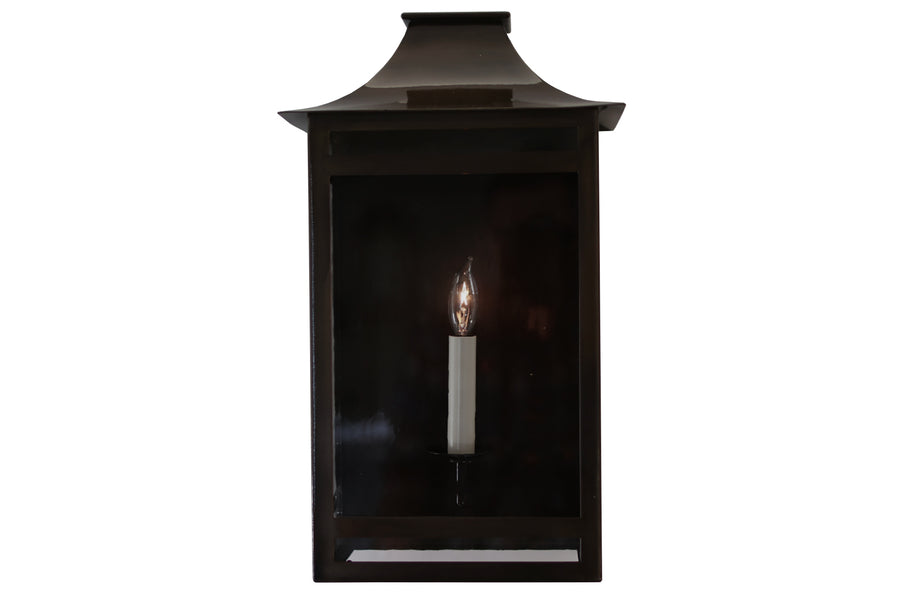 Hyde Park Outdoor Lantern Sconce, Small