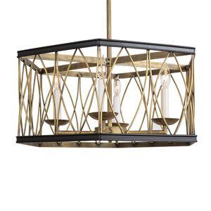 Montparnasse Hexagon Pendant, 4 light