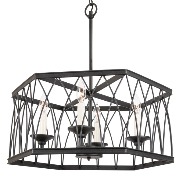 Montparnasse Hexagon MD Pendant 4 light