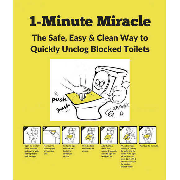 3PC/set 1-Minute Miracle Disposable Toilet Plunger