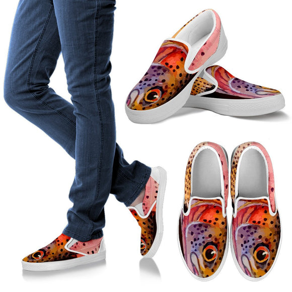 Women's Rainbow Trout Slip-On Shoes Slip on shoes-Fresh Steals
