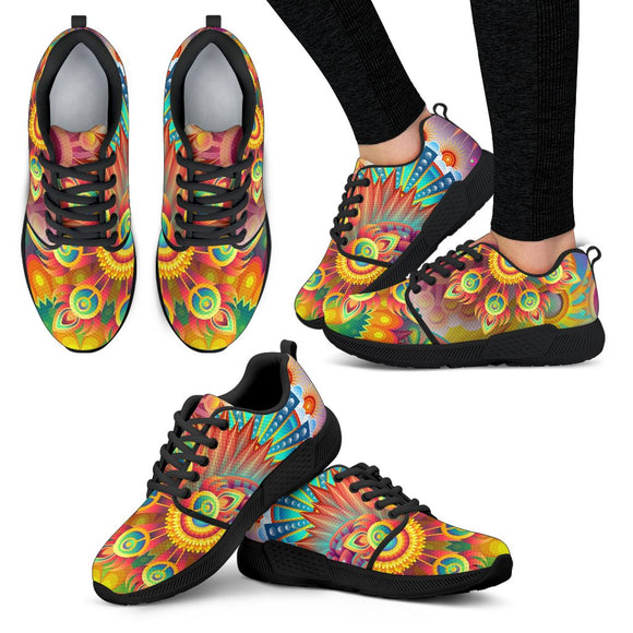 Women's Psychedelic Athletic Sneakers Athletic sneakers-Fresh Steals