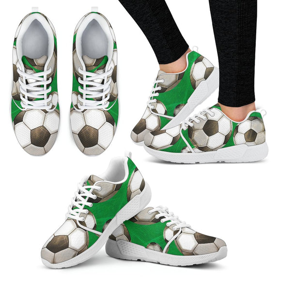 Women's Soccer Fan Athletic Sneakers Athletic sneakers-Fresh Steals