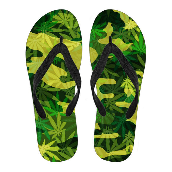 Cannabis Camo Pattern Flip Flops flip-flops-Fresh Steals