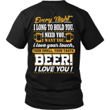 Beer I Love You T-shirt-Fresh Steals
