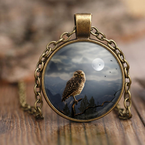 Moonlit Owl Pendant Necklaces-Fresh Steals