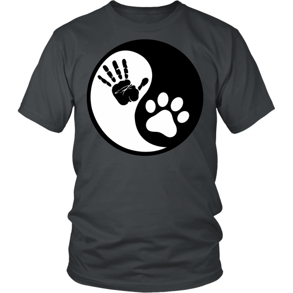 Hand Paw Yin Yang T-shirt-Fresh Steals