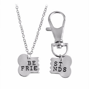 """My Dog is My BFF"" Charm Necklace & Keychain Necklace-Fresh Steals"